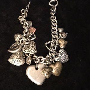 Jewelry - Chunky Silvertone Bracelet/Necklace